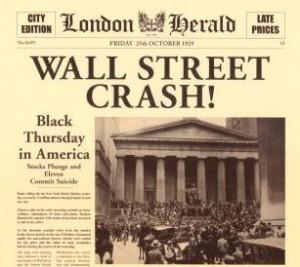 Il crollo della Borsa di Wall Street.